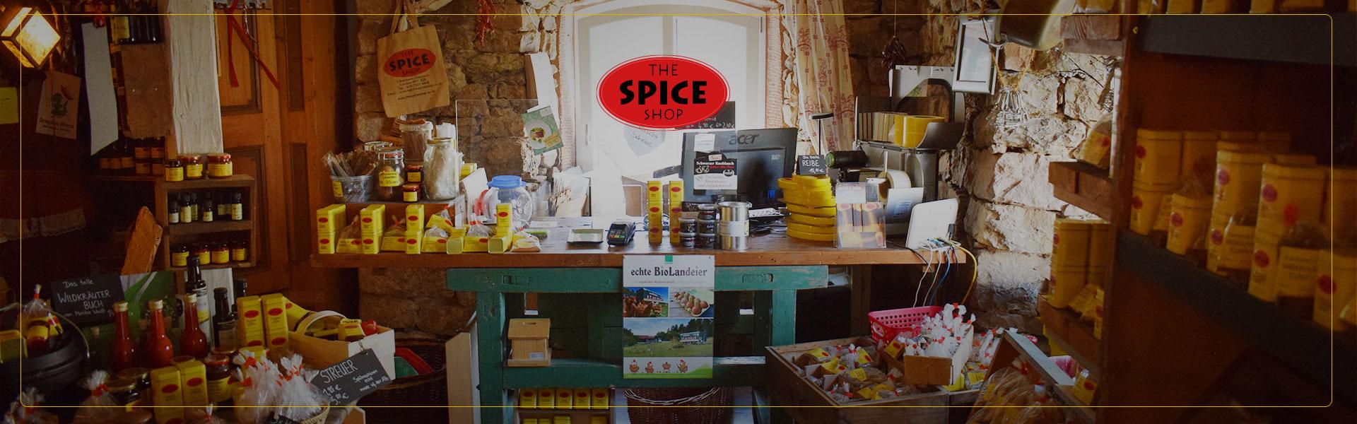Spice Shop Home Slider - Willkommen