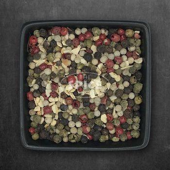 Bunter Pfeffer Mix für Knoblauchliebhaber