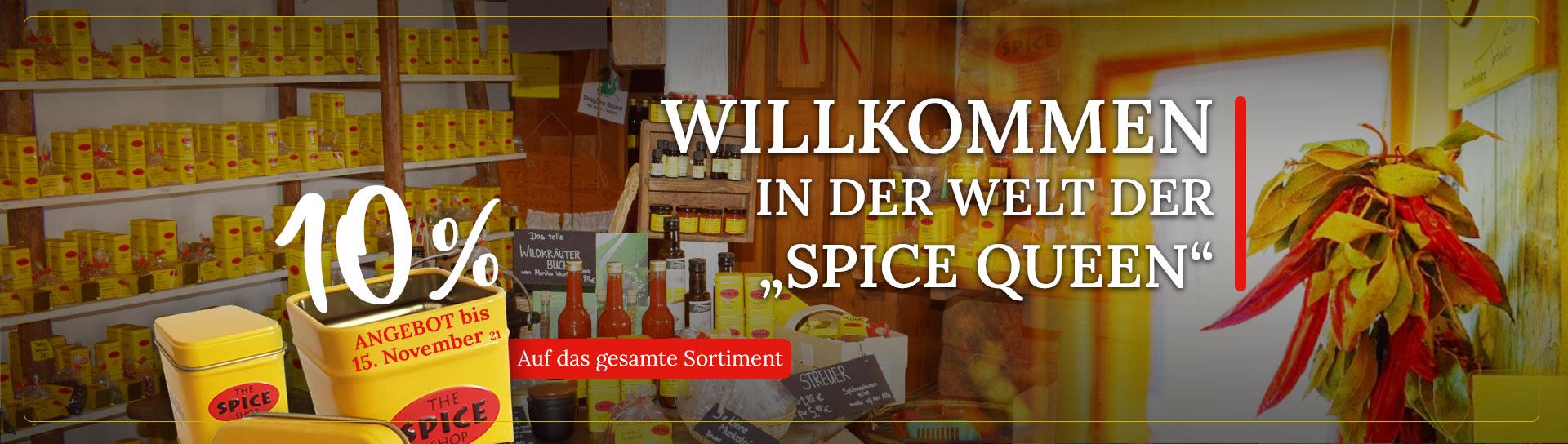 Spice Shop Home Slider - Willkommen - mit Angebot